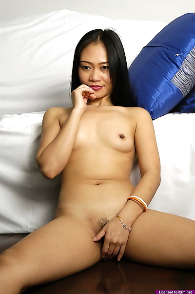 Young Asian girl shows off..