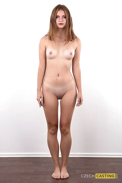 Teen girl Nikol stands bare..