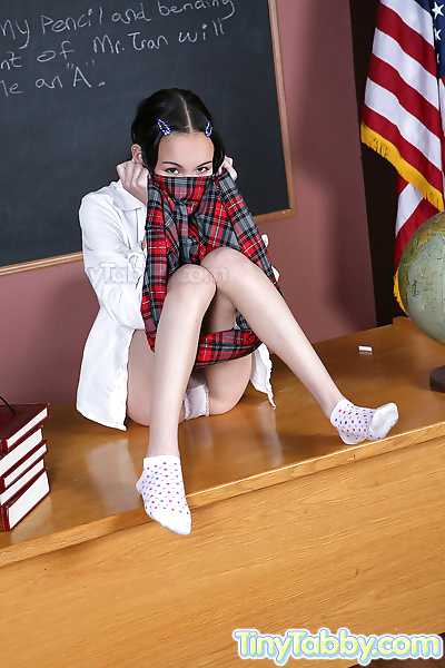 Horny students teasing her..