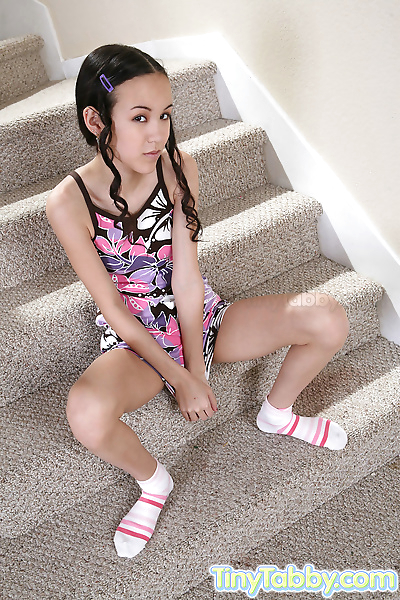 A hot teen nude on the..